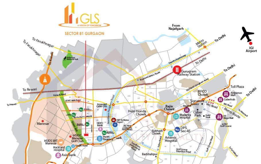 GLS 81 Location Map