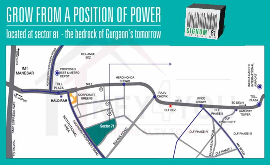 Signum 81 Gurgaon Location