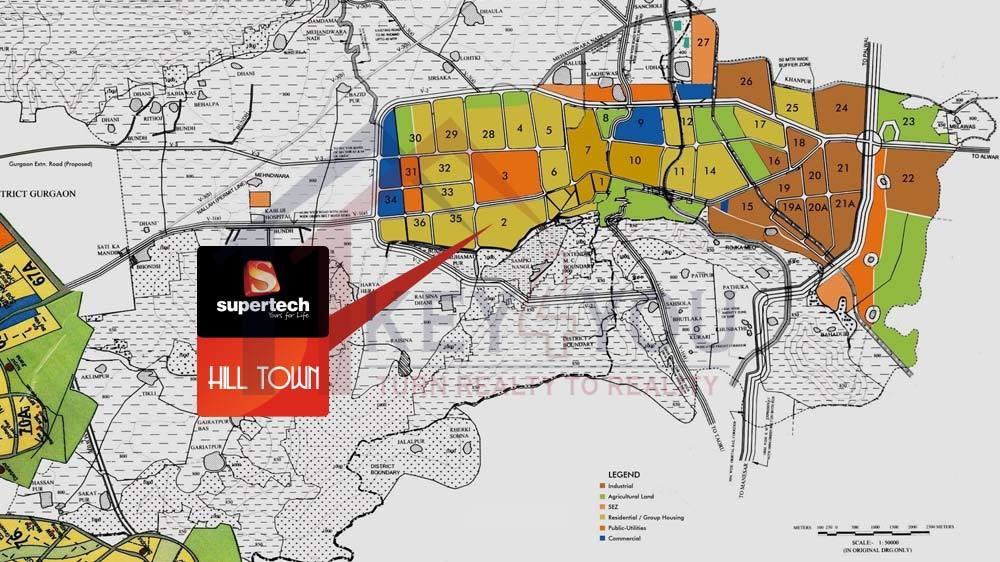 Supertech Hill Town Sector 2 Sohna Residential Key 4 You