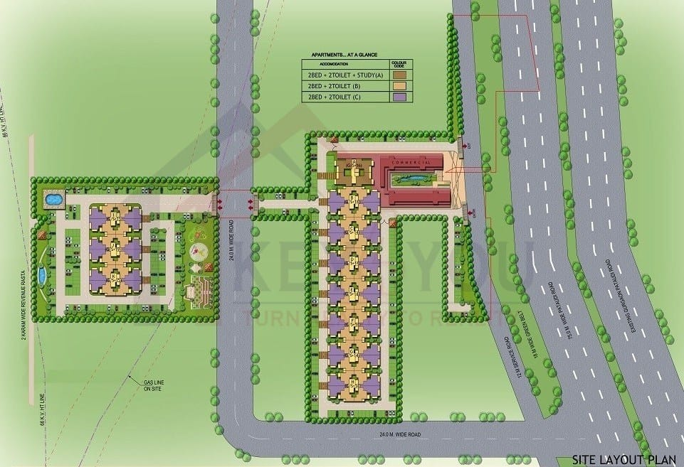 Site Plan of Signature Global The Roselia Sector 95A Gurgaon