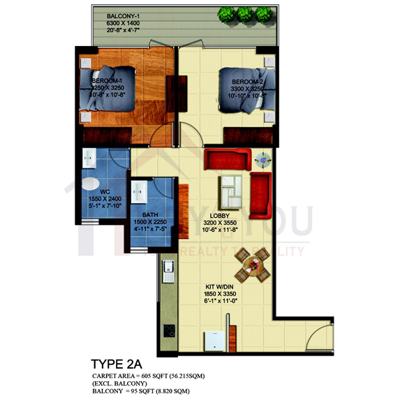 Affordable Housing Gurgaon Sector 63a Floor Plan