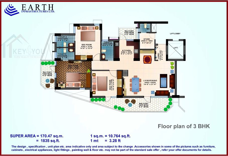 Earth Copia Floor Plan 1