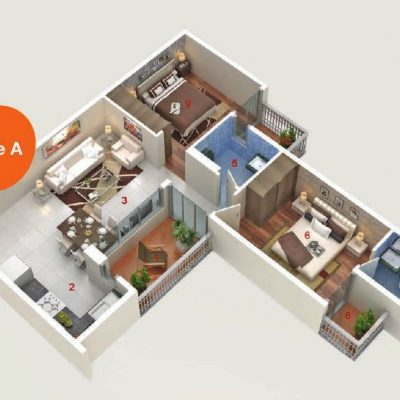 AASHIYARA 2bhk floor plan type a