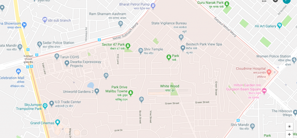 location map Bestech Park View Spa