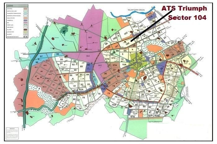 ATS Triumph Sector 104 Location Map