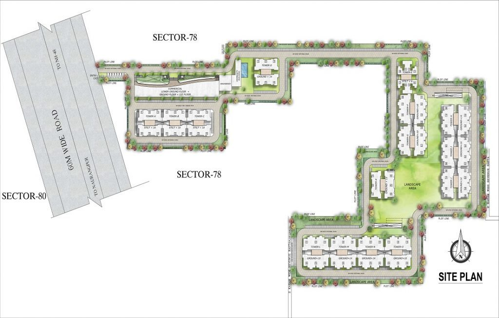 Supertech affordable sector 78 Site Plan