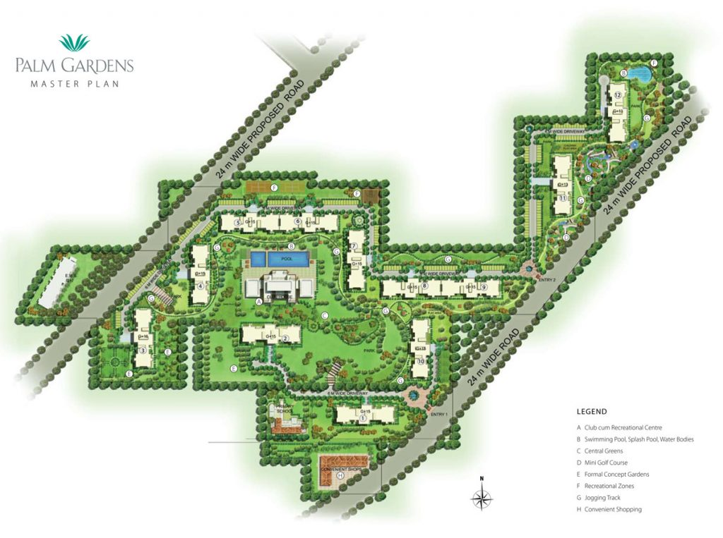 Emaar Mgf Palm Gardens Site Plan