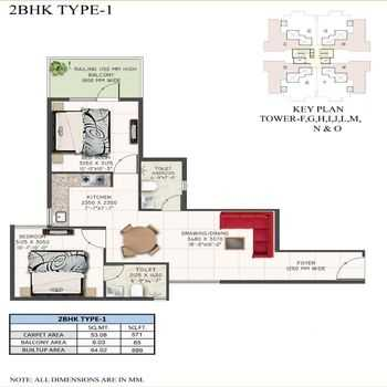 supertech the valley 2bhk type 1