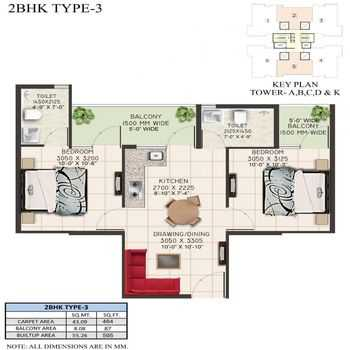 supertech the valley 2bhk type 3
