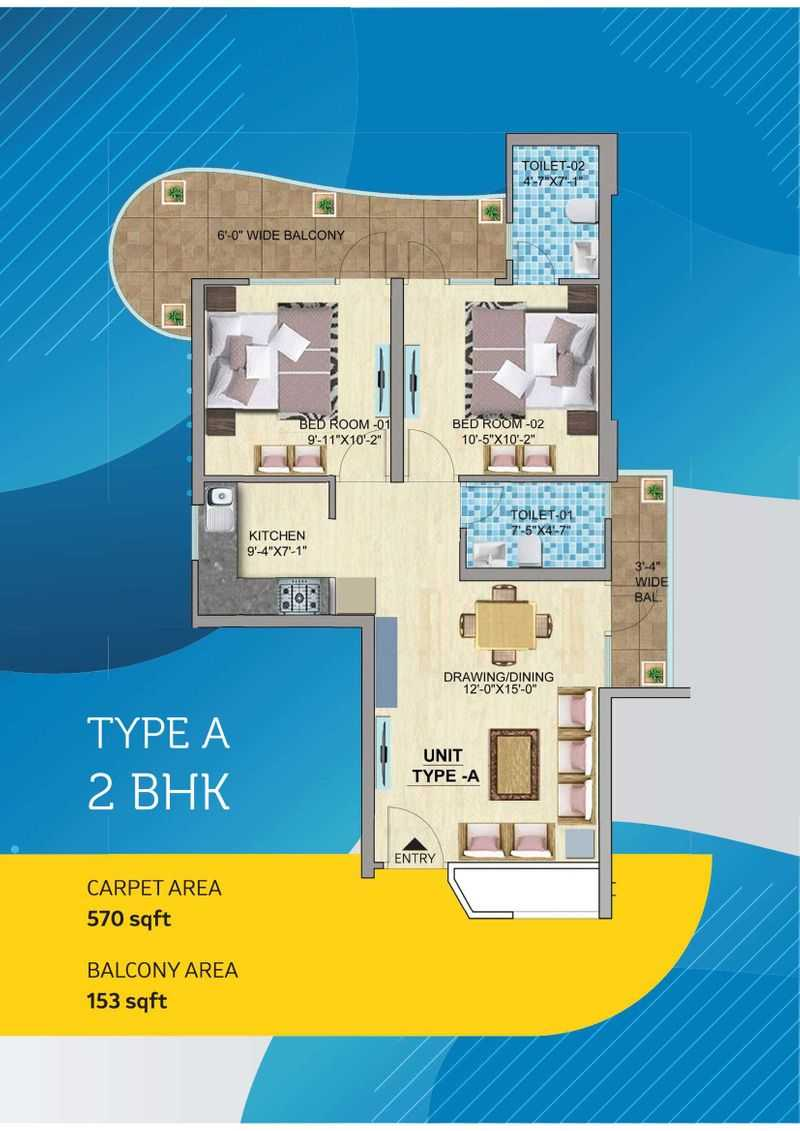 mahira homes 103 2 bhk type a