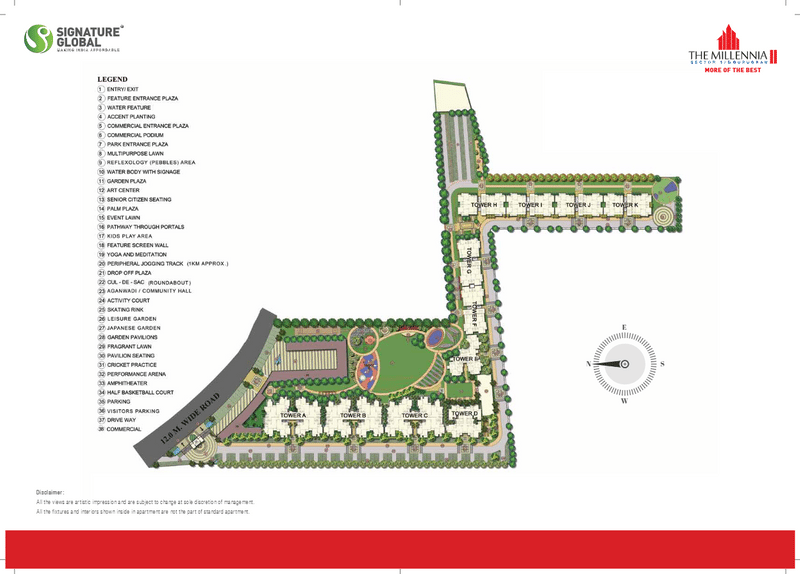 site plan signature global millennia 2