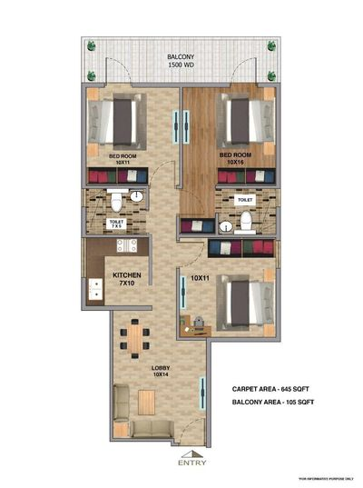 rof aalayas 2 floor plan 3 bhk