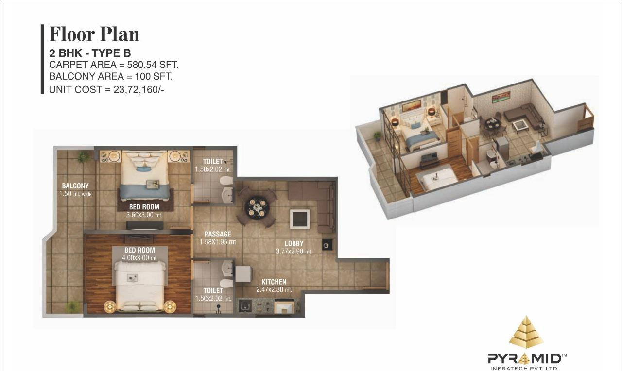Floor Plan Type B gurgaon