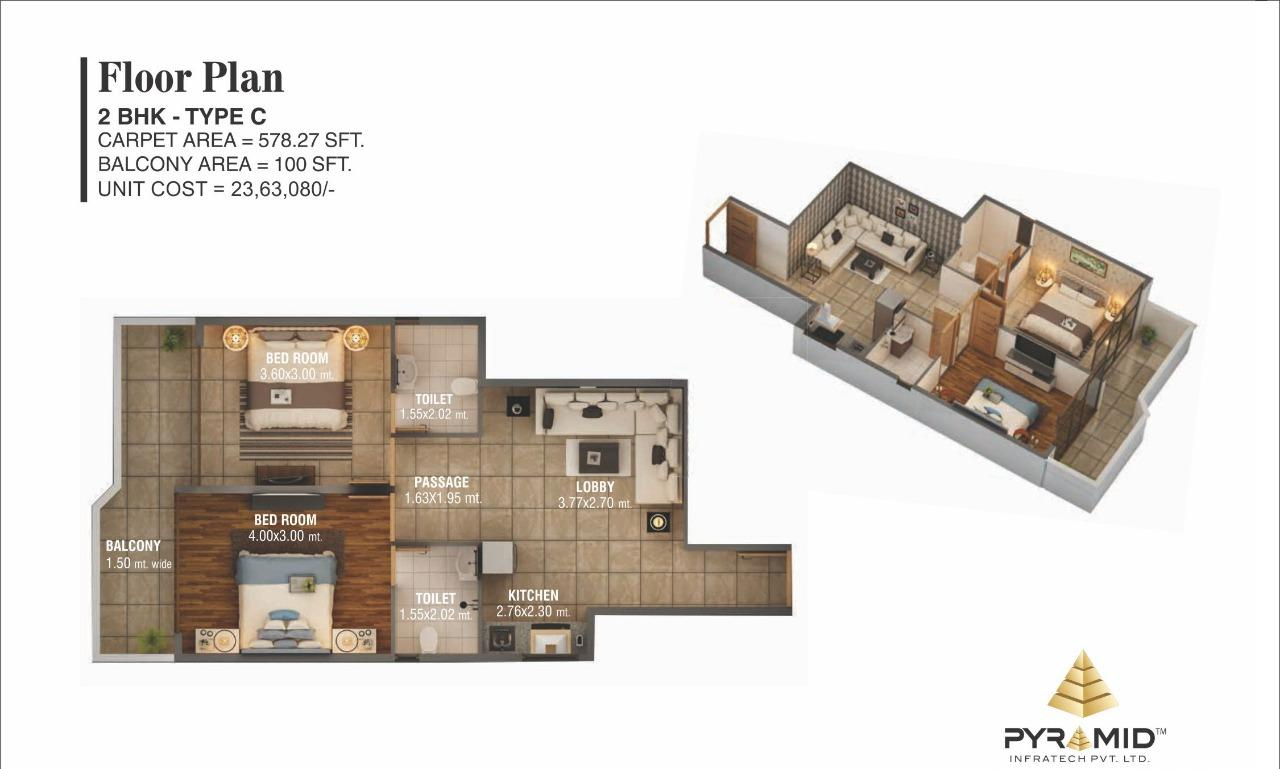 Pyramid Sector 59 Floor Plan Type C